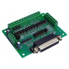 LPT csatoló kártya 12/5 input/output leválasztás