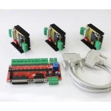Három tengelyes léptetőmotor vezérlő csomag