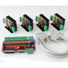 Négy tengelyes léptetőmotor vezérlő csomag