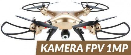 Syma: Syma X8HW (kamera FPV 1MP, 2.4GHz, funkcja zawisu, zasięg do 70m)