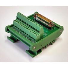DB25 D-sub Interfész modul DIN sínre