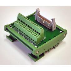 IDC26 Interfész modul DIN sínre