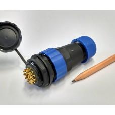 Csatlakozó 28mm IP68 védettség, 16 pin, 10A