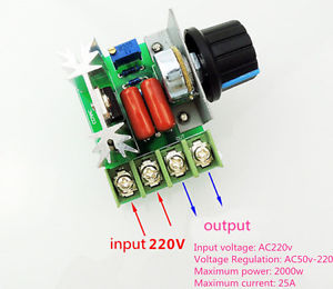 2000W high power electronic regulator SCR dimming speed governor