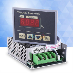 DC 12V-80V 30A PWM Motor Speed Regulator Power Controller + LED Digital Display
