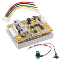 DC 5-36V 350W BLDC Three-phase Brushless Motor Controller w/ Heat Sink