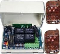 4 csatornás relés vevő + 2db kulcstartó távirányító