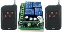 4 gombos (kapu) távirányító és 4 csatornás vevő modul, relés (2db távirányítóval)