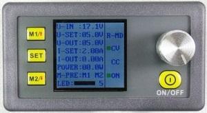 DC-DC konverter, tápegység, kijelzővel