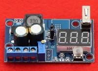 DC-DC konverter, le konvertál, LED volt kijelzővel