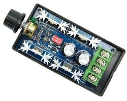DC motor PWM vezérlő, vátloztatható frekvencia