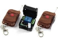 1 gombos (kapu) távirányító és 1 csatornás vevő modul, relés, 2db távirányítóval